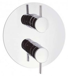 Round Plate Concealed Shower