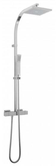 Square Bar Shower With Fixed Rigid Riser & Hand Shower