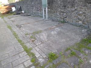 An origional floor at Bowes Railway, Springwell