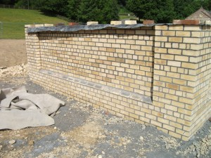 Brickwork with inset pannels