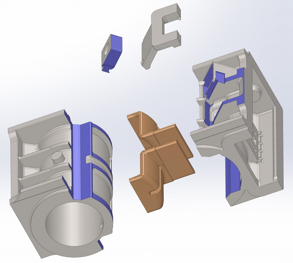 3) RH cylinder pattern assembly exploded view - 1 11-3-14