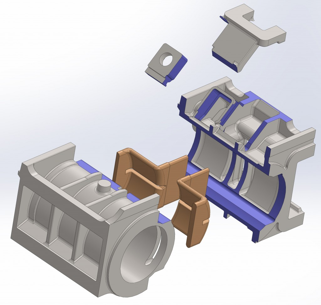 4) RH cylinder pattern assembly exploded view - 2 11-3-14
