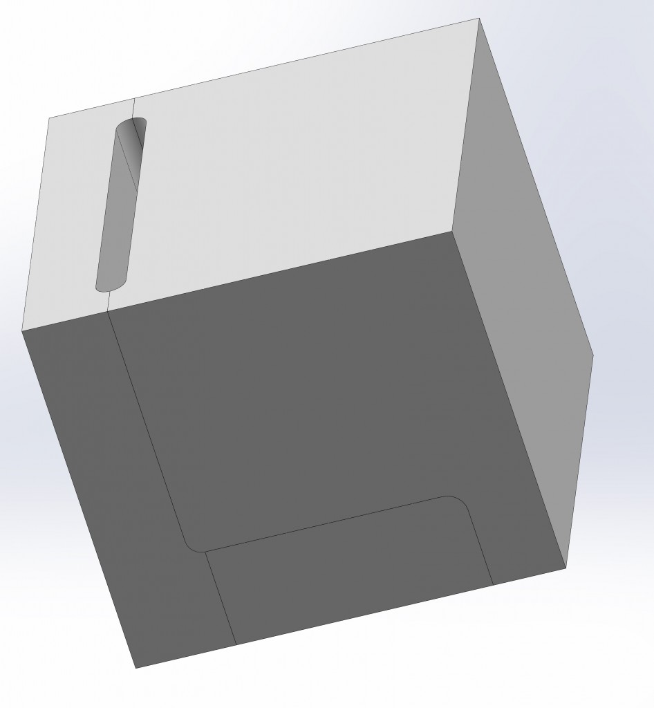 6) Core box for trailing steam port core assembly