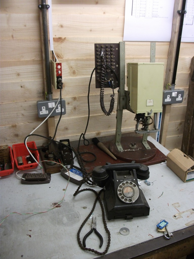 One of the phones being prepared, in the Telecom Workshop, to go out onto site