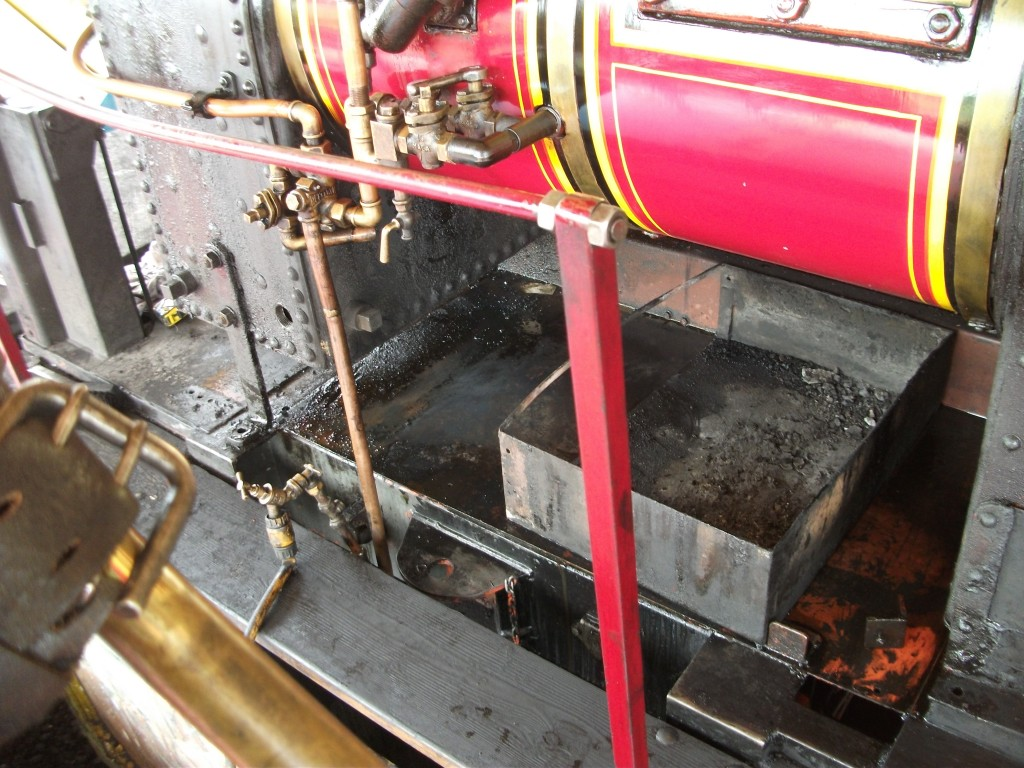 Much of the pipe work, water tank and ash pan removed to improve access