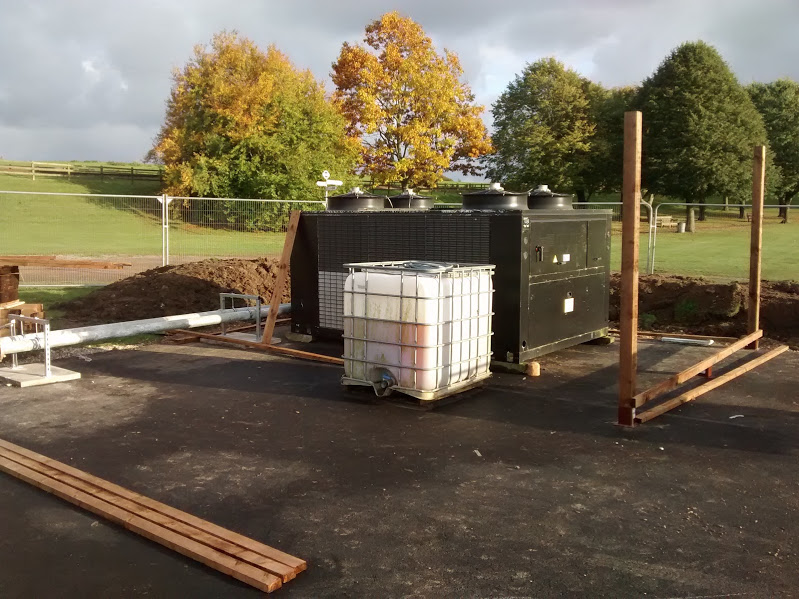 The Ice Rink Chiller Unit, which will be disguised with some fencing.