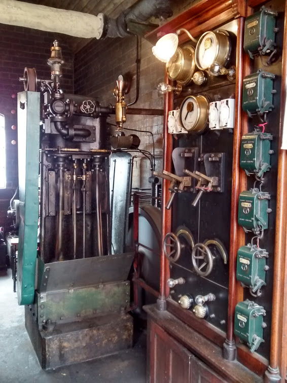 The Generator house, with original distribution board and the engine built on site, still producing power!