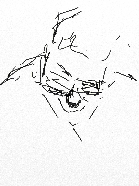 Danny Mooney 'Izzy 24.2.13#4' Digital drawing
