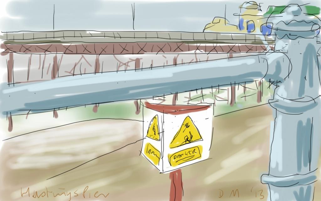 Danny Mooney 'Hastings Pier' Digital drawing