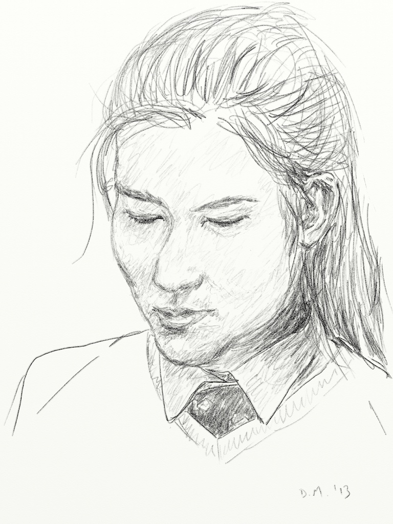 Danny Mooney 'Izzy 21.3.13' Digital drawing