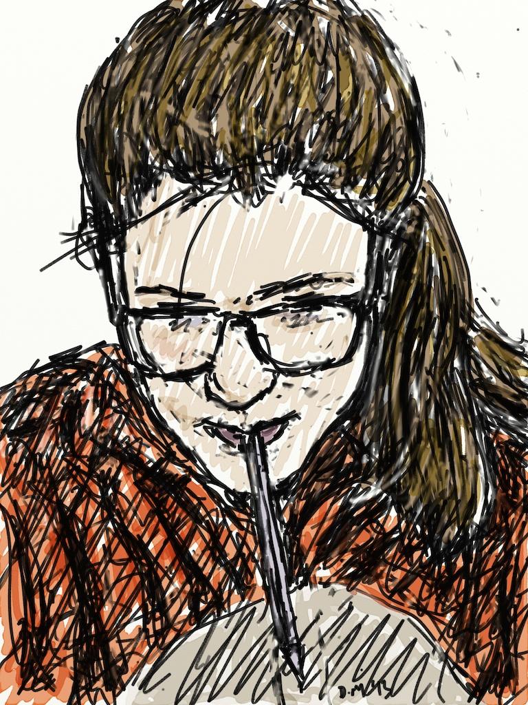 Danny Mooney 'Izzy 3.3.13 #2' Digital drawing