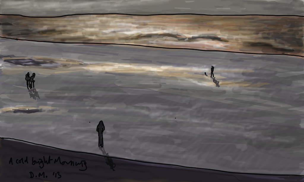 Danny Mooney 'A cold bright morning' Digital drawing