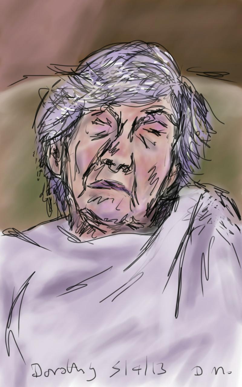 Danny Mooney 'Dorothy 5.4.13' Digital drawing
