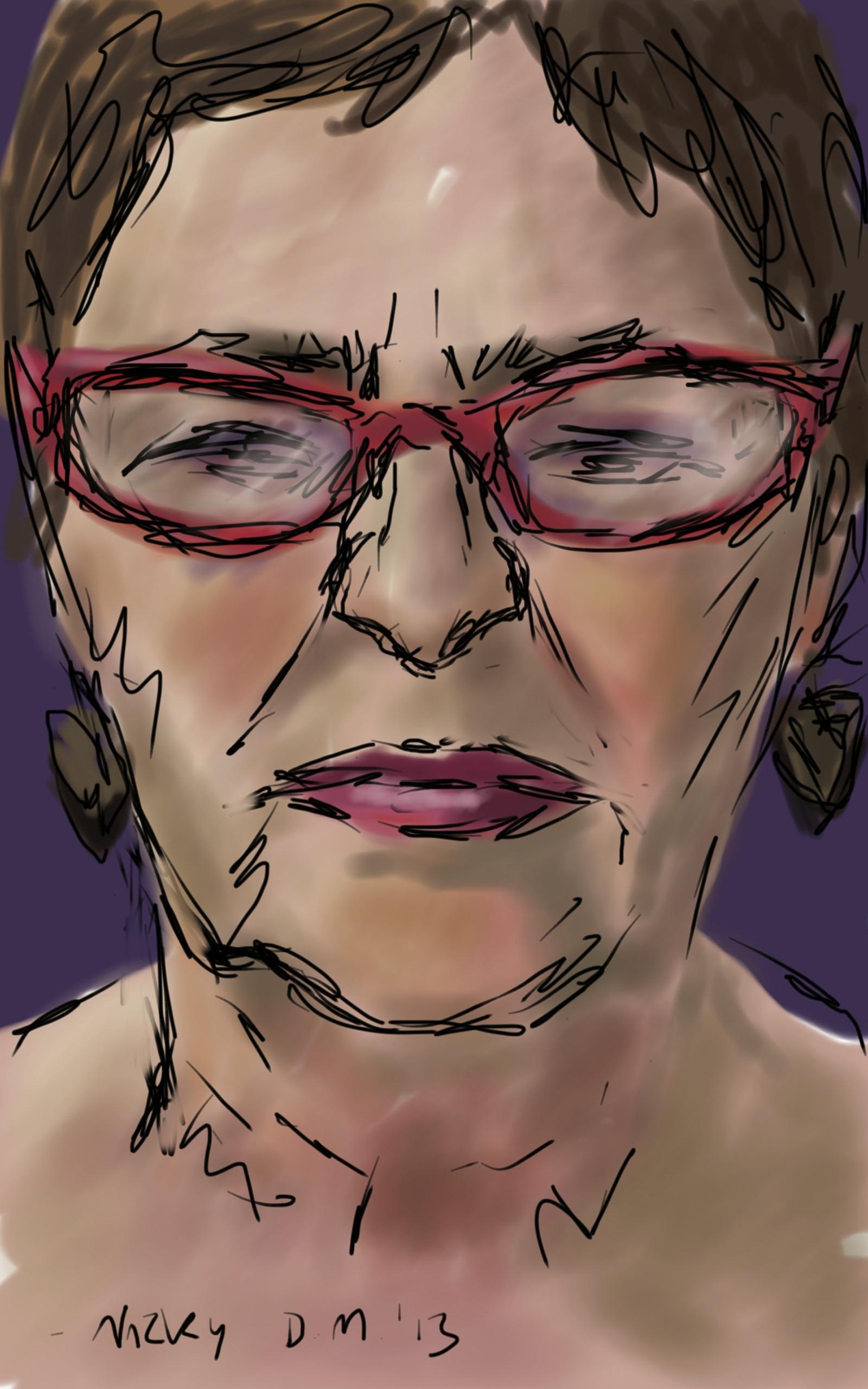 Danny Mooney 'Nicky 6.4.13' Digital Drawing