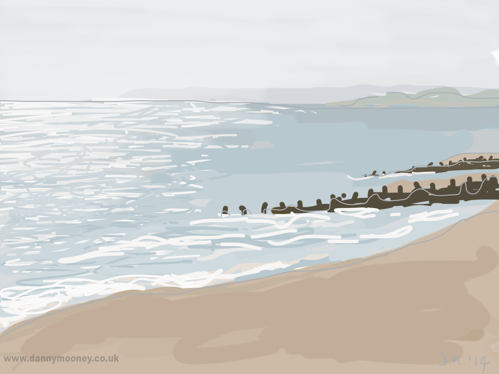 Danny Mooney 'Bright slightly hazy afternoon, 16/4/2014' Digital painting