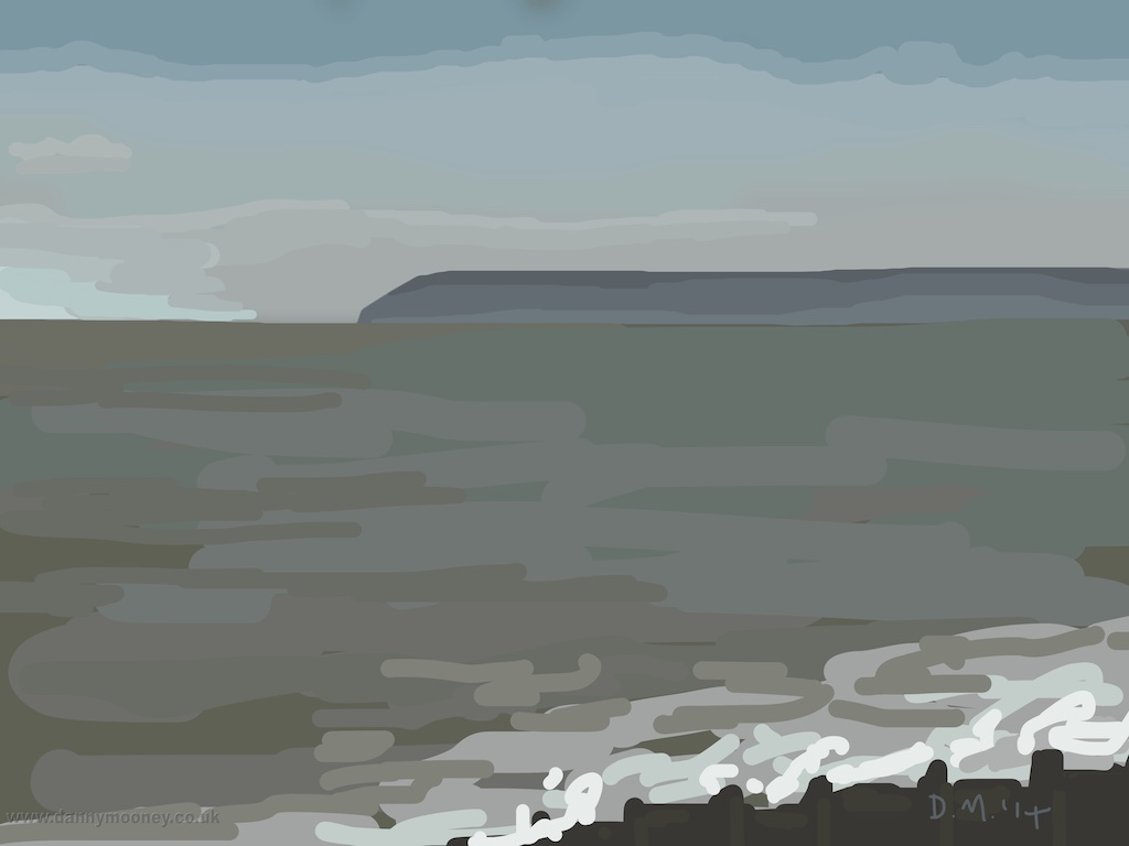 Danny Mooney 'Beachy Head, 20/12/2014' iPad painting #APAD