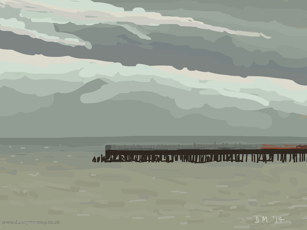 Danny Mooney 'Hastings pier, 23/12/2014' iPad painting #APAD