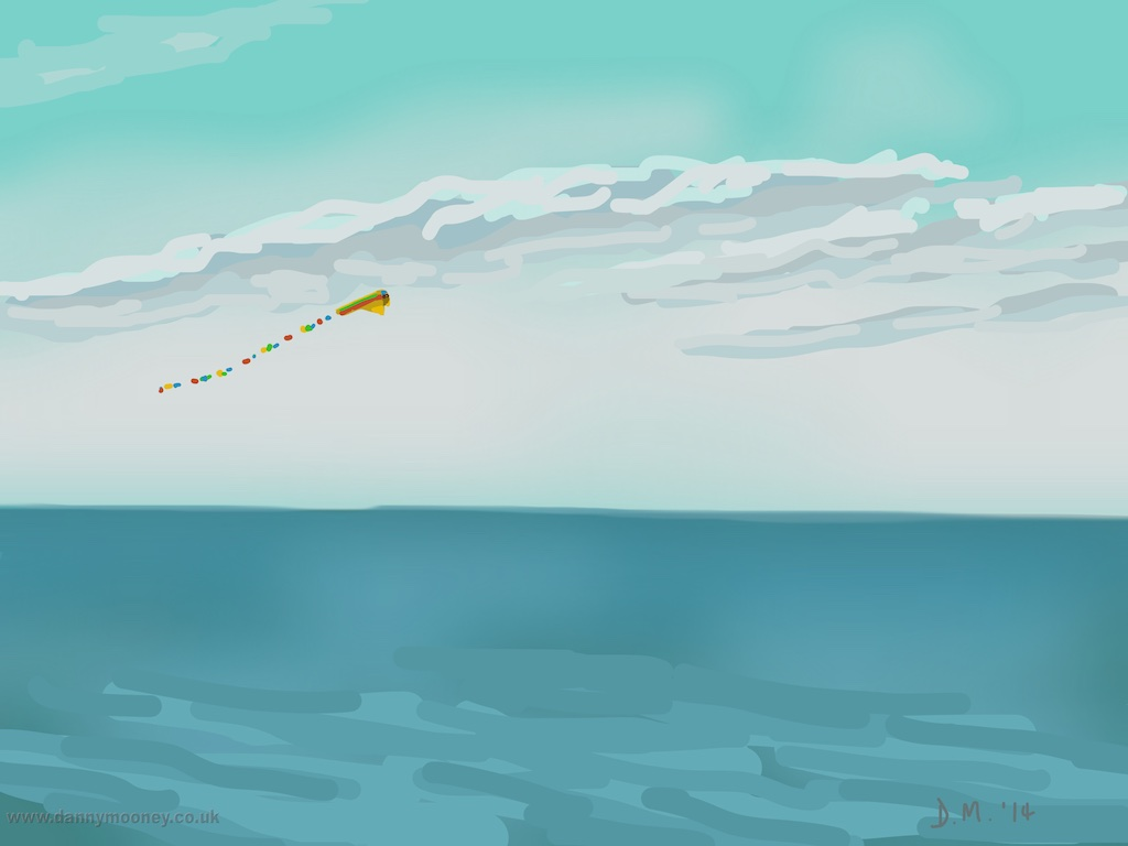 Danny Mooney 'Kite, 30/12/2014' iPad painting #APAD