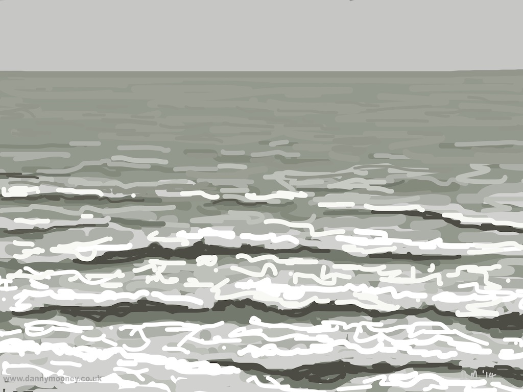Danny Mooney 'Rough sea, 11/12/2014' iPad painting #APAD