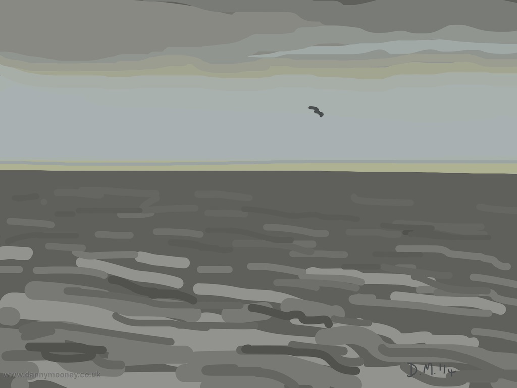 Danny Mooney 'Sea Gull, 18/12/2014' iPad painting #APAD