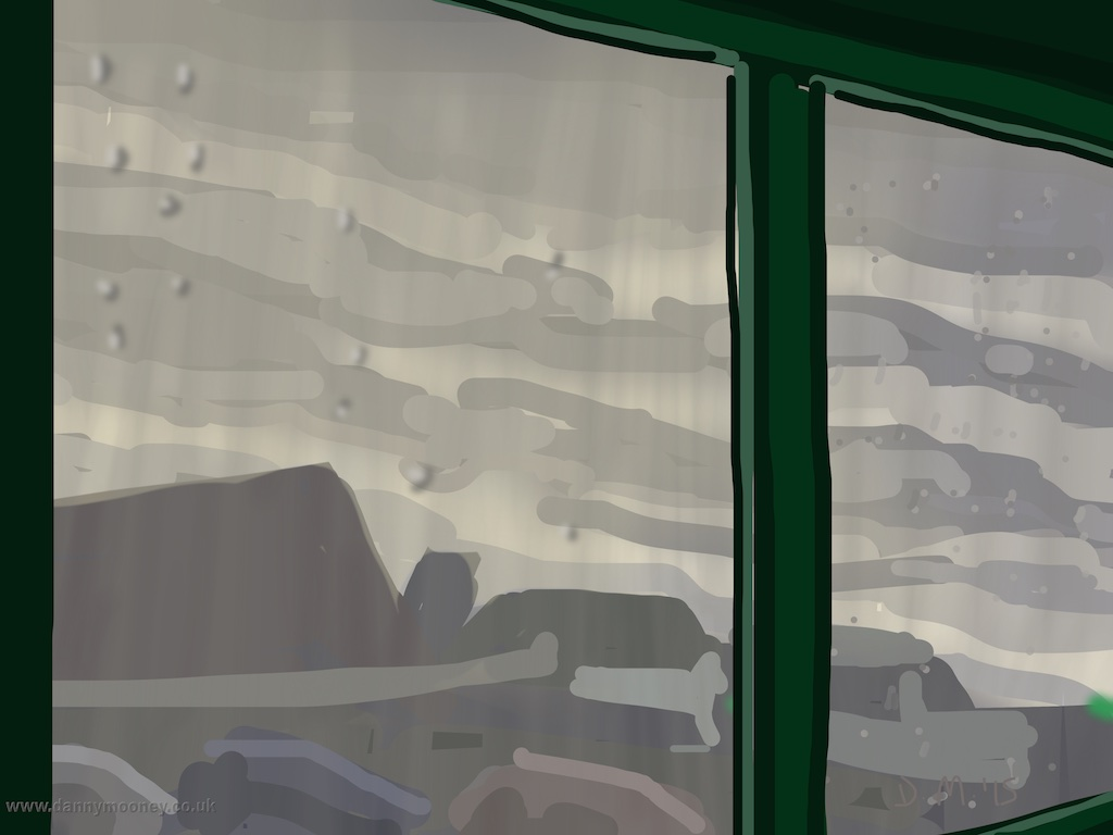 Danny Mooney 'Bus Shelter, 3/1/2015' iPad painting #APAD
