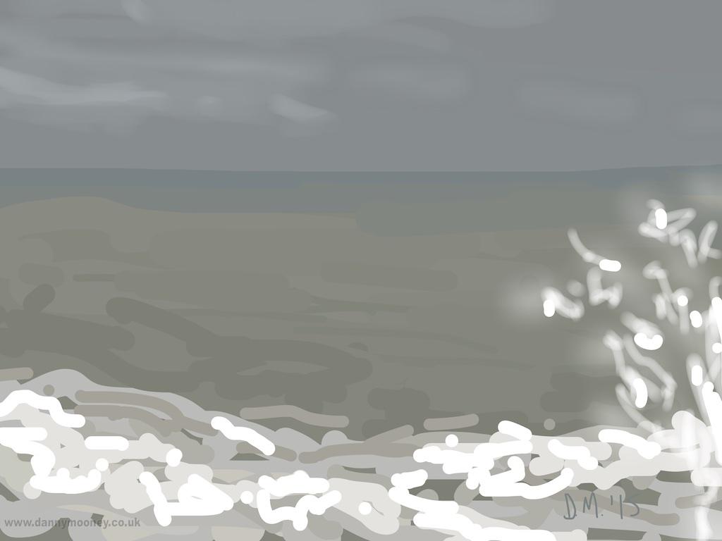 Danny Mooney 'Stormy, 6/1/2015' iPad painting #APAD