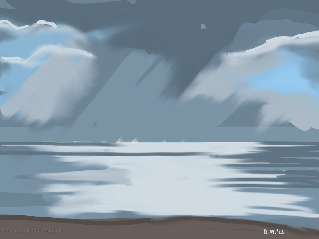 Danny Mooney 'Rain, 5/2/2015' iPad painting #APAD