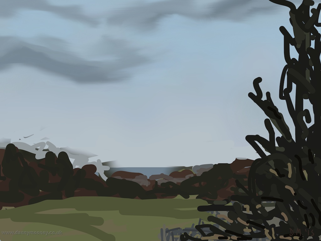 Danny Mooney 'West St Leonards from the train, 10/2/2015' iPad painting #APAD