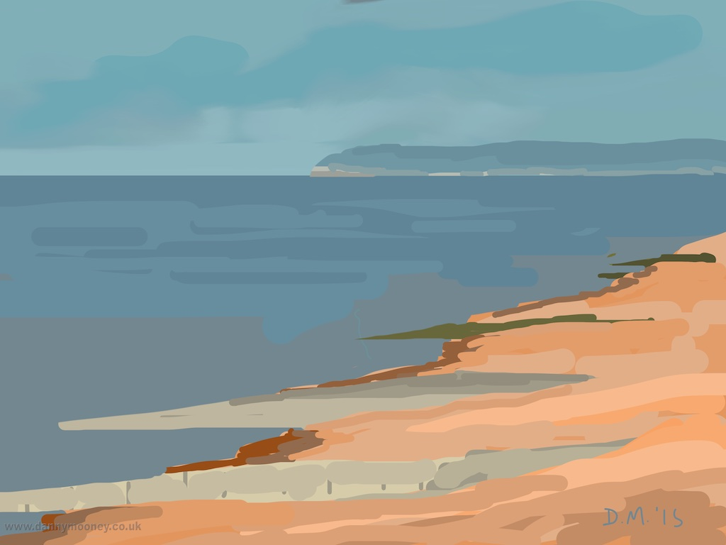 Danny Mooney 'Beach, 5/3/2015' iPad painting #APAD