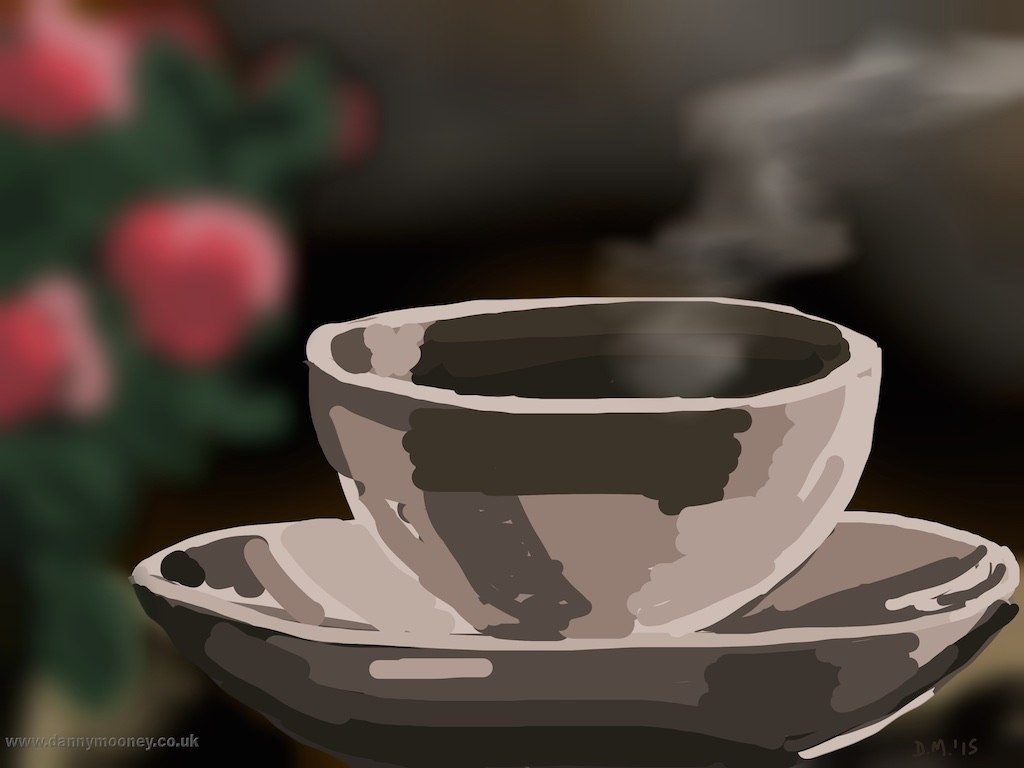 Danny Mooney 'Coffee at Kassa, 9/3/2015' iPad painting #APAD
