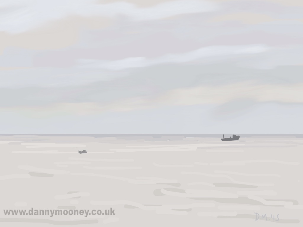 Danny Mooney 'Fishing, 23/3/2015' iPad painting #APAD