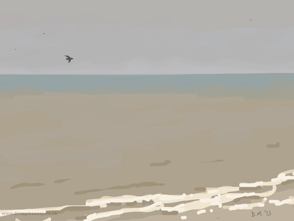 Danny Mooney 'Gulls, 15/3/2015' iPad painting #APAD