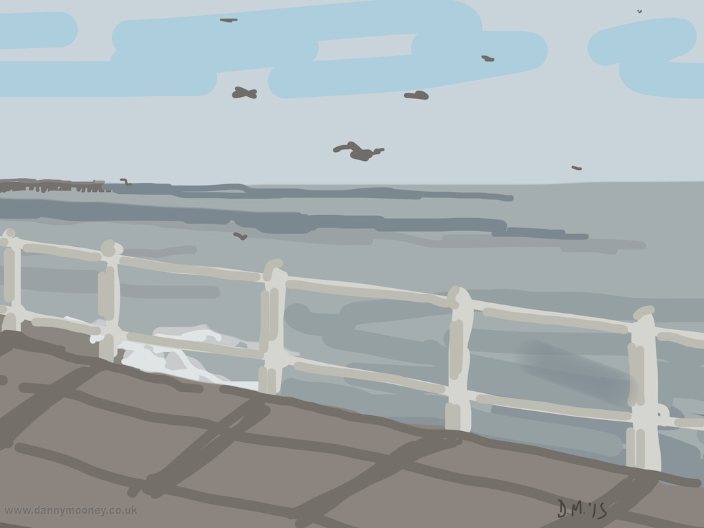 Danny Mooney 'Gulls, 4/3/2015' iPad painting #APAD