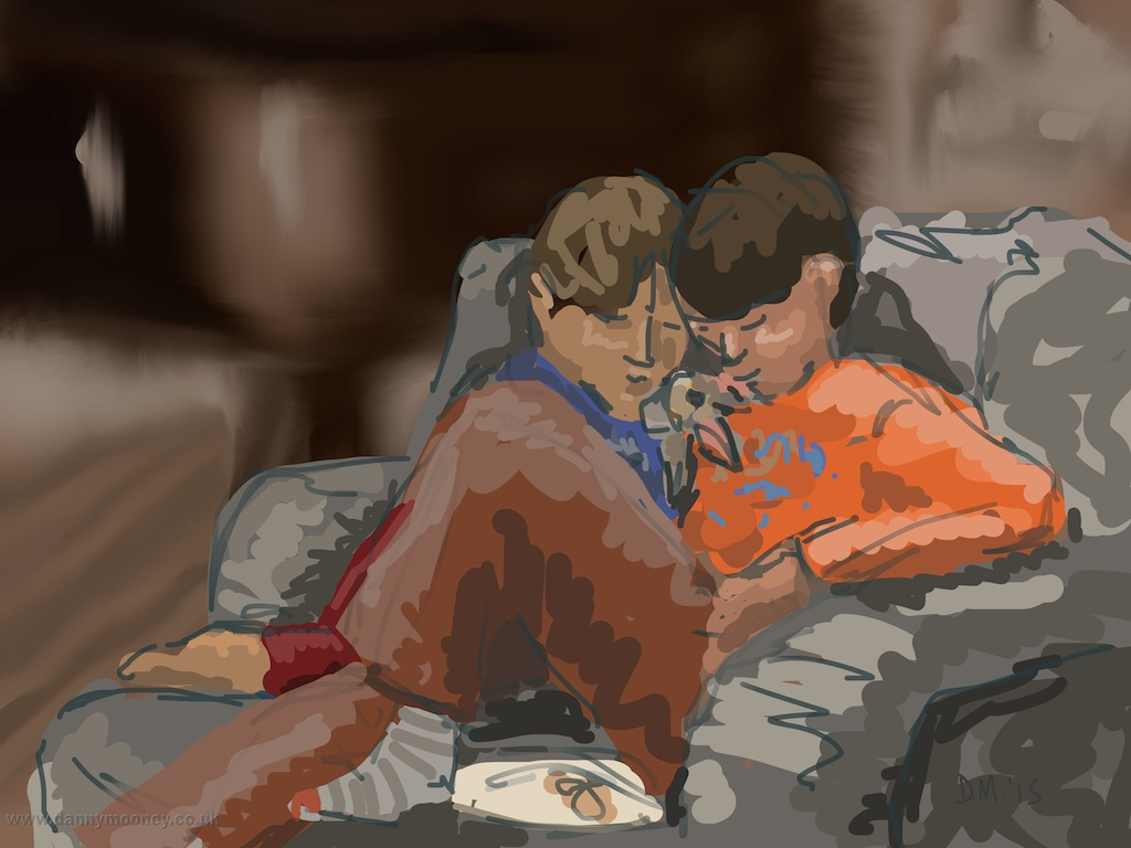 Danny Mooney 'Jacob and Teddy, 22/3/2015' iPad painting #APAD