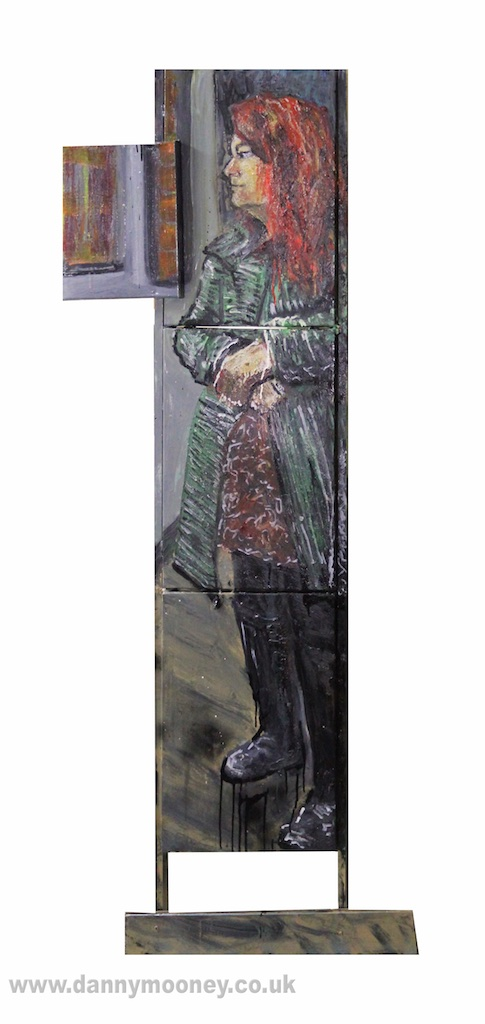 Danny Mooney 'Judith' Mixed media painting 175 x 71 cm