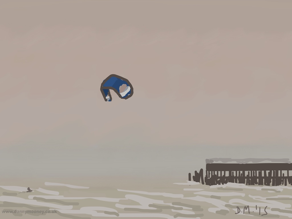 Danny Mooney 'Kite surfing, 26/3/2015' iPad painting #APAD