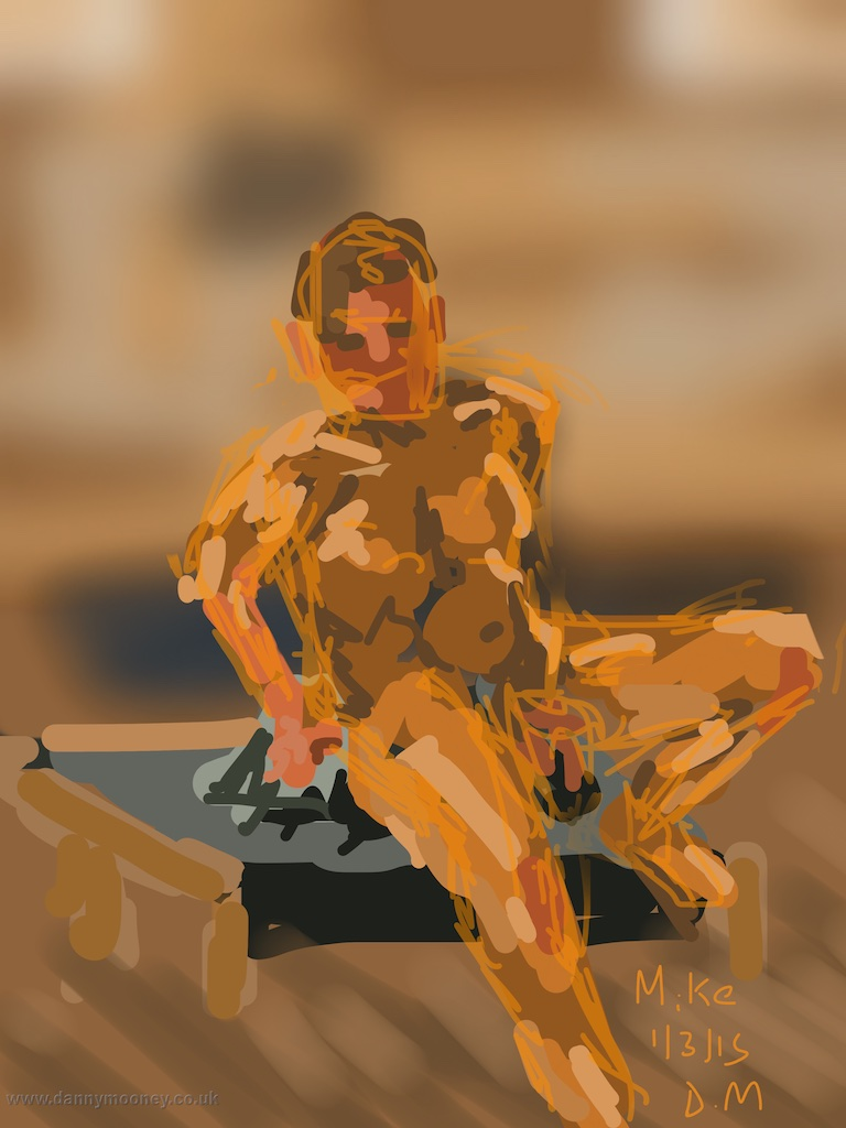 Danny Mooney 'Life drawing, Ore, 1/3/2015' iPad painting #APAD
