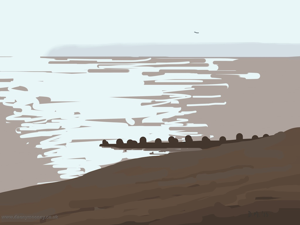 Danny Mooney 'Misty headland, 13/3/2015' iPad painting #APAD