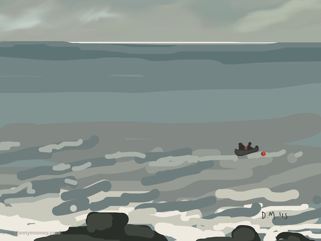 Danny Mooney 'Tending the bouy, 14/3/2015' iPad painting #APAD