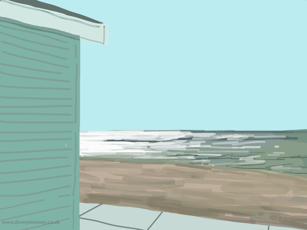 Danny Mooney 'Beach hut, 18/4/2015' iPad Painting #APAD