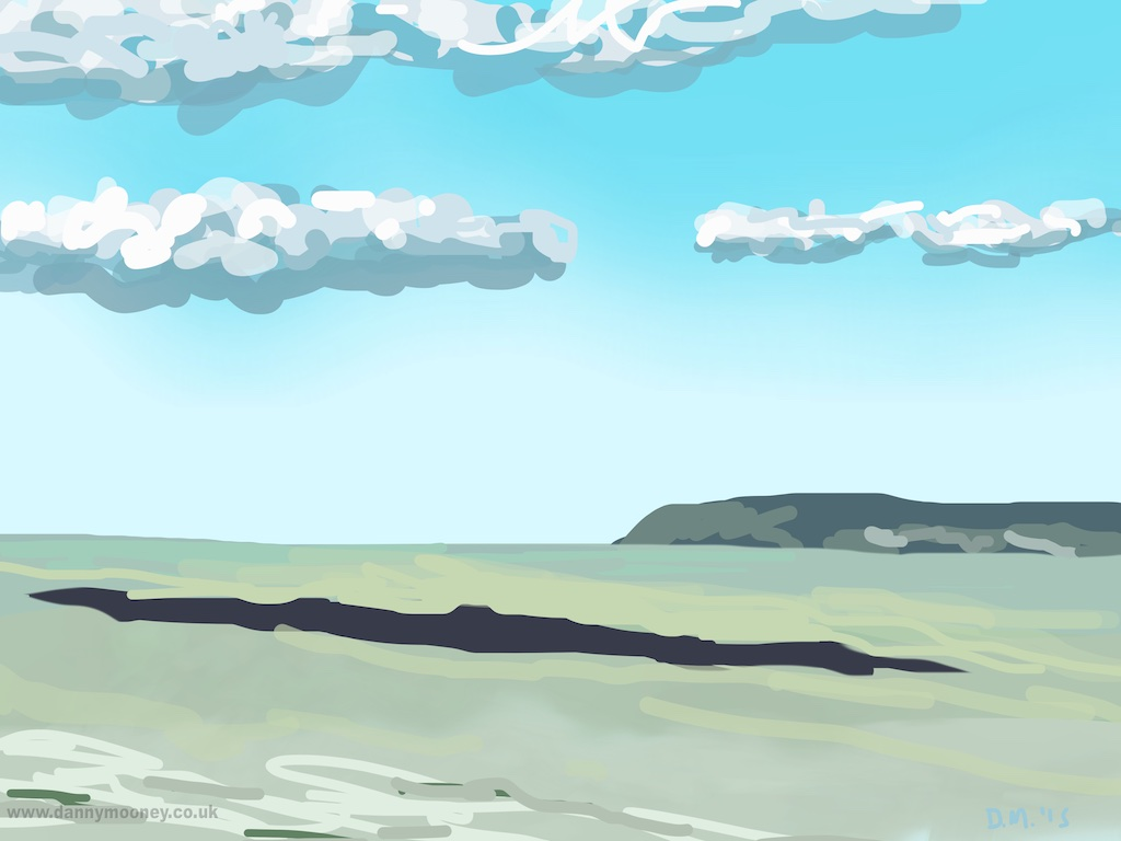 Danny Mooney 'Clouds and shadows, 11/4/2015' iPad Painting #APAD