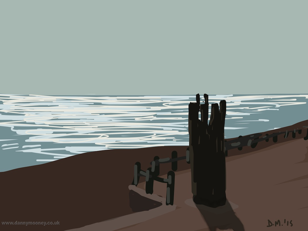 Danny Mooney 'I Left My Heart in Hastings, 7/4/2015' iPad Painting #APAD