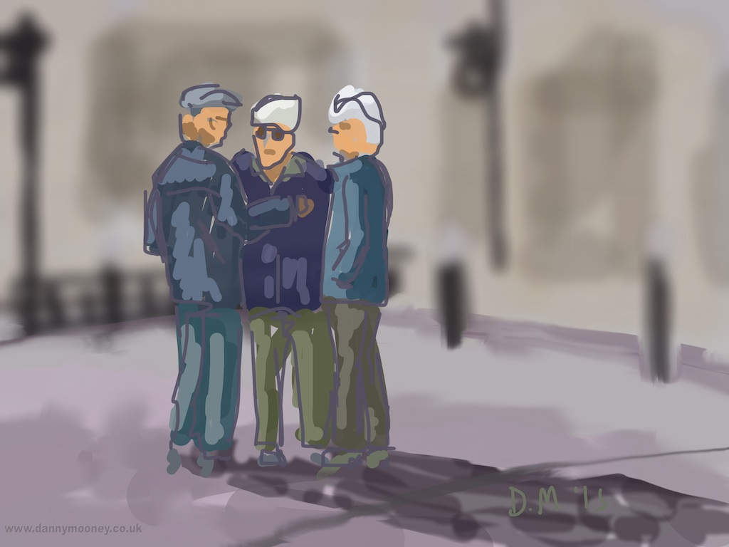 Danny Mooney 'Just a chat, 13/4/2015' iPad Painting #APAD