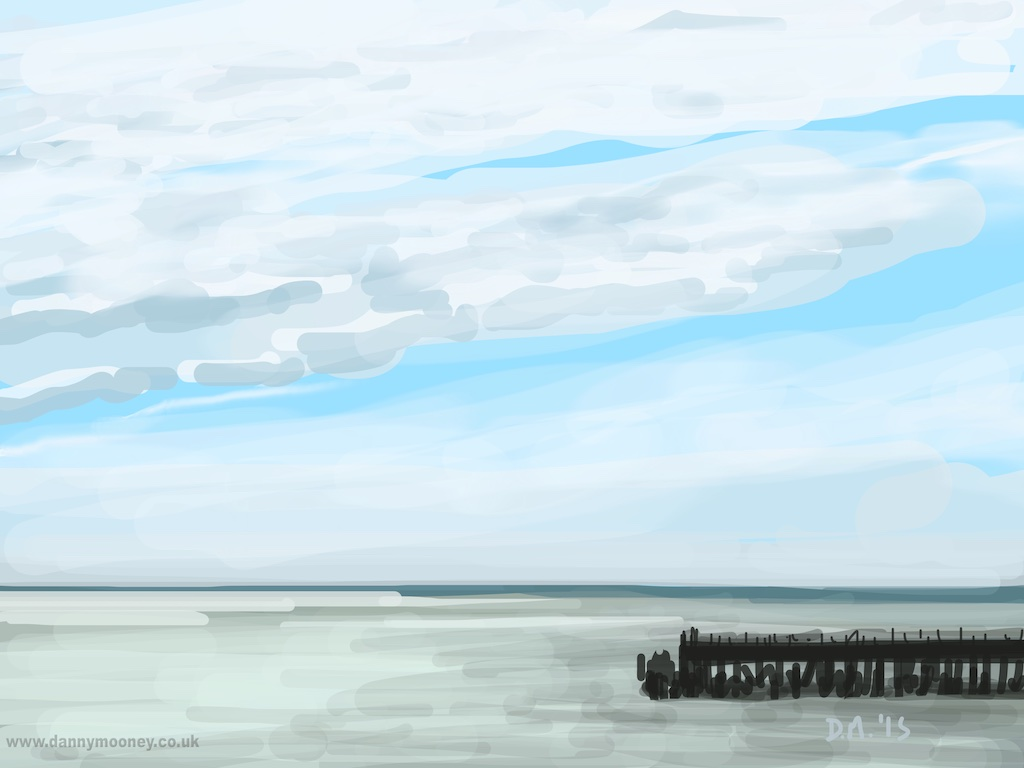 Danny Mooney 'Pier again, 19/4/2015' iPad Painting #APAD