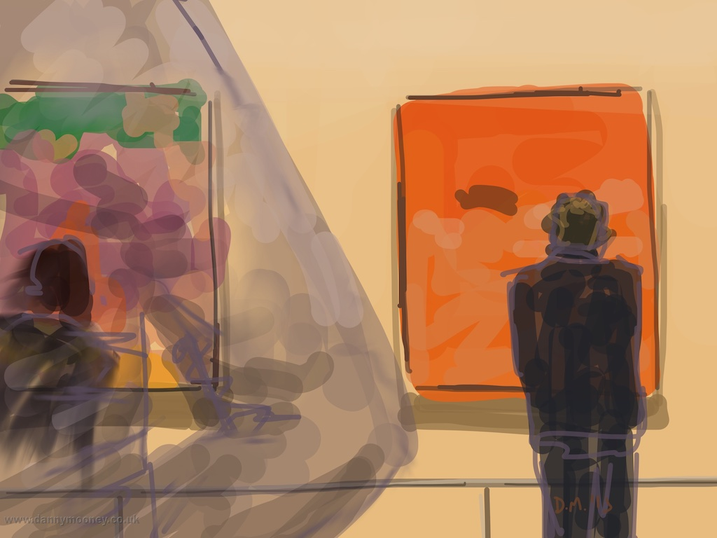 Danny Mooney 'Richard Diebenkorn, RA, 21/4/2015' iPad Painting #APAD