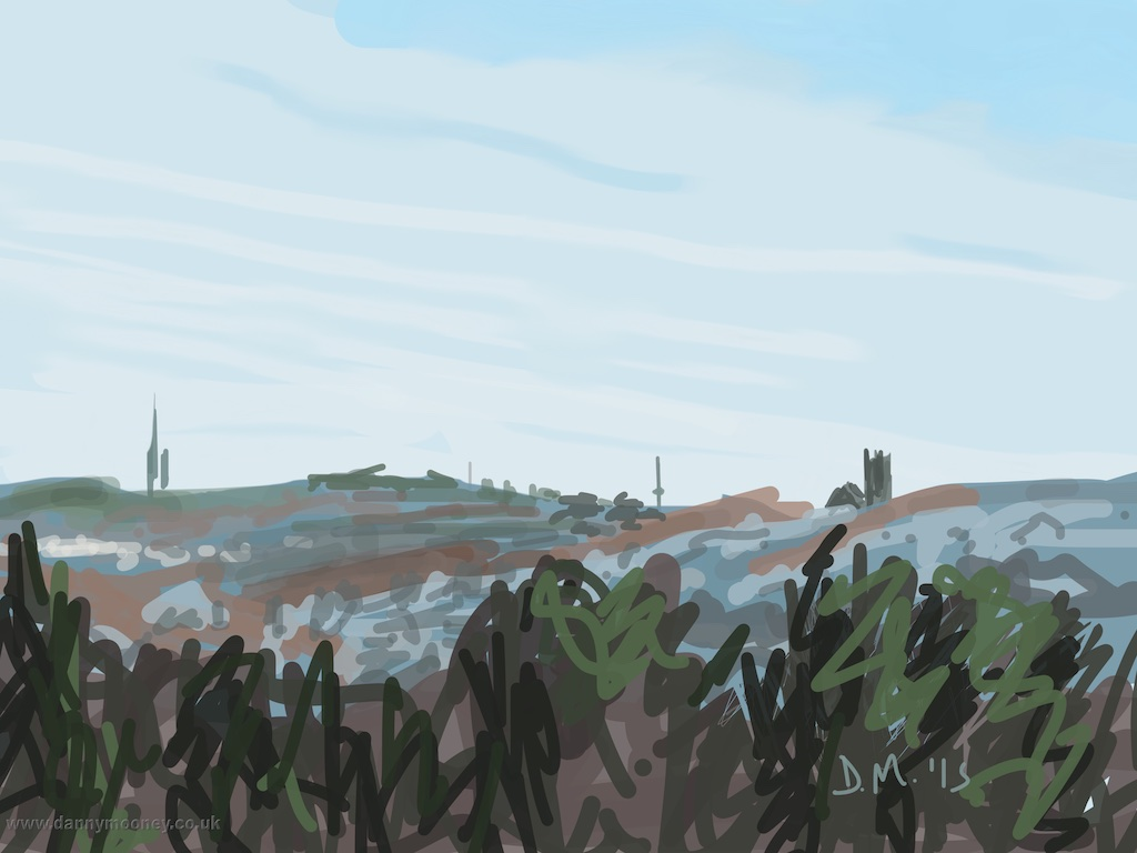 Danny Mooney 'West Hill, misty, 20/4/2015' iPad Painting #APAD