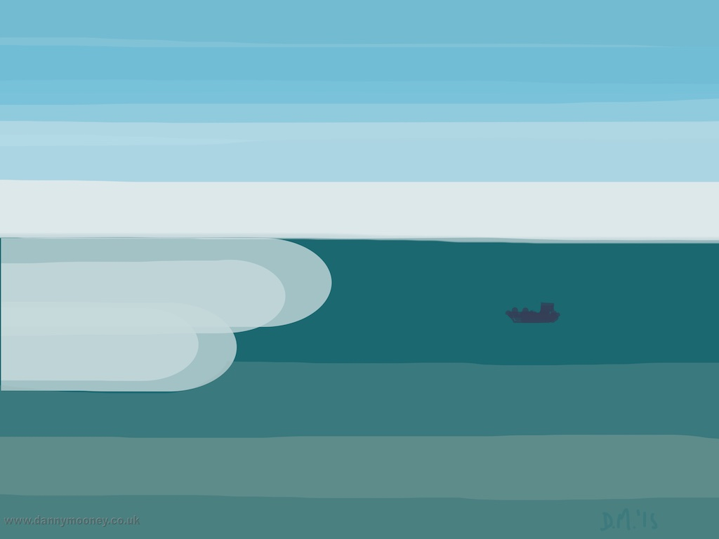Danny Mooney 'Fishing boat, 28/4/2015' iPad Painting #APAD