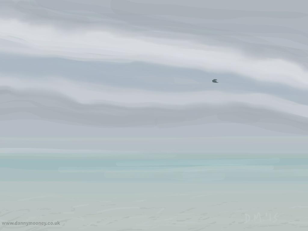 Danny Mooney 'Misty bird, 25/4/2015' iPad Painting #APAD
