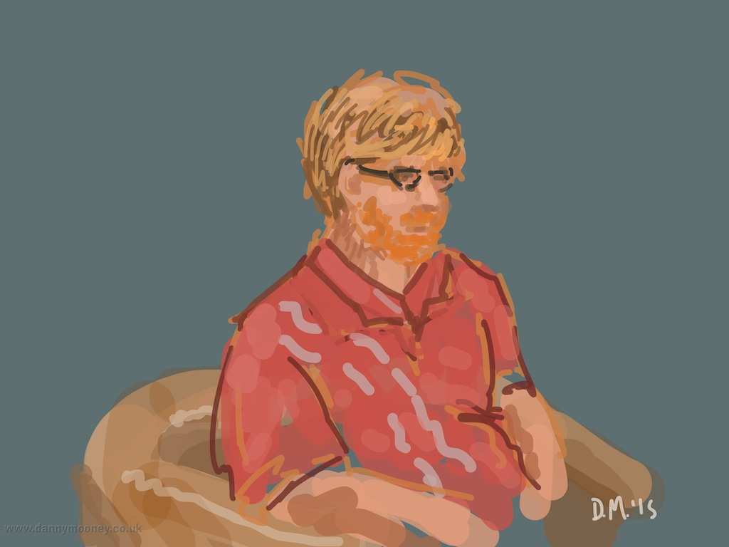 Danny Mooney 'Some bloke in Nero, 29/4/2015' iPad Painting #APAD