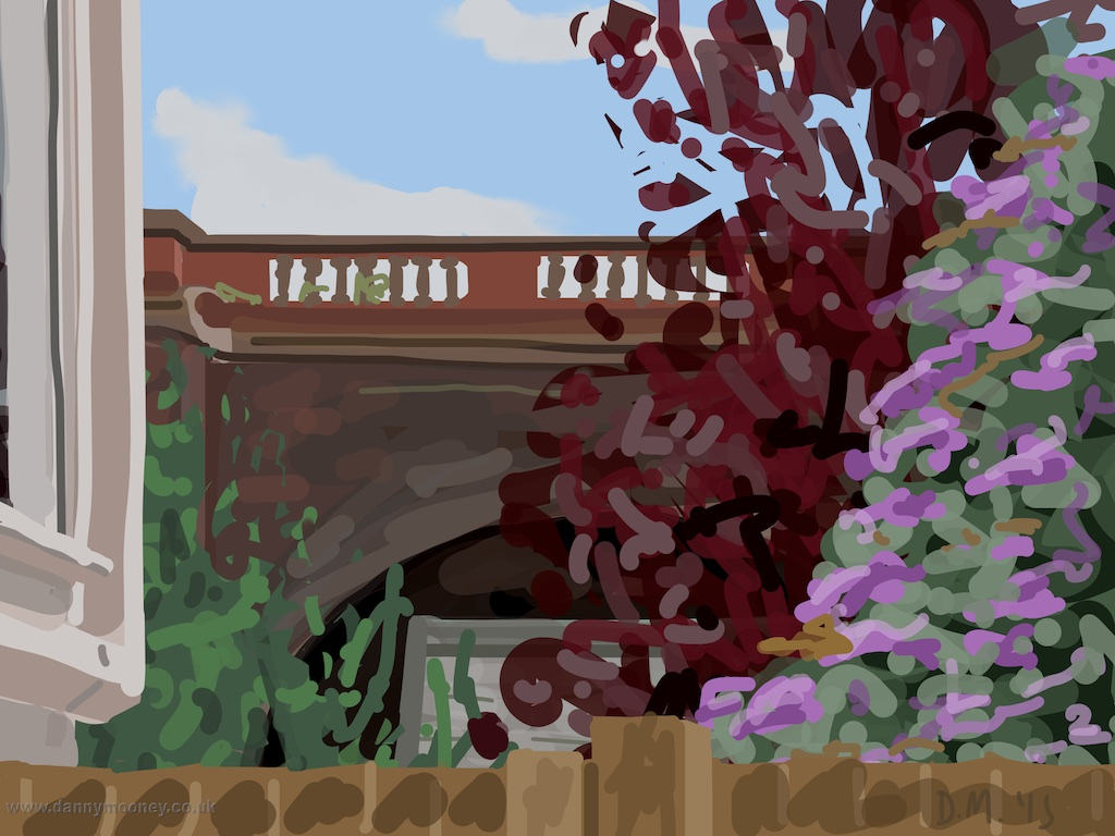 Danny Mooney 'Garden, 17/7/2015' iPad painting #APAD